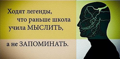 Школа учила мыслить